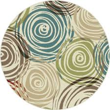 Modern Green Rugs Universal Rugs 1016 Deco Contemporary Area Rug 5 3
