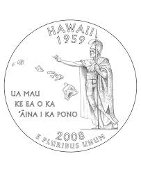 coloring pages quarter hawaii state quarter coloring page usa state quarters