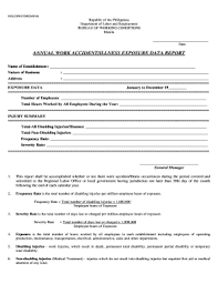 bureau vall dole fillable annual work accidentillness exposure data report