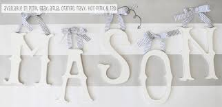 Decorated Letters For Nursery Easy Nursery Kid S Room Decor With Letters Coquette Maman