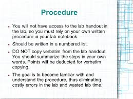 writing an effective lab report ppt video online download