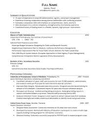 Example Federal Resume by Download Public Administration Sample Resume