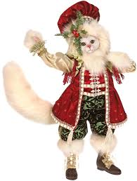 mark roberts collectable white christmas cat 51 45642