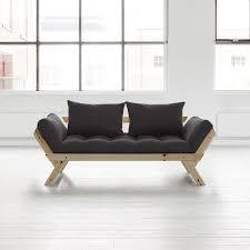 canape convertible avec matelas canapé convertible en bois naturel avec matelas futon bebop