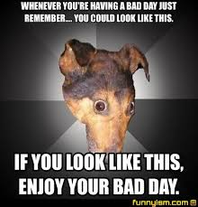 Having A Bad Day Meme - whenever you re having a bad day just remember you could look