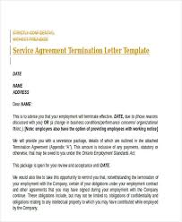 employment termination agreement template leaplaw com in order