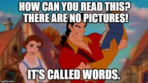 Reading Book Meme - gaston book memes imgflip