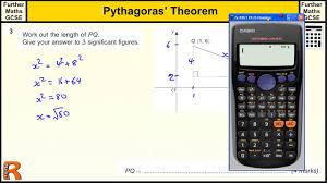 pythagoras theorem gcse further maths revision exam paper practice