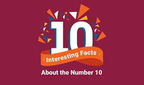 10 interesting facts about the number 10 infographic visualistan
