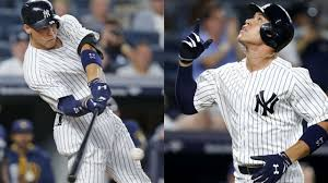 Aaron Judge Breaks Joe Dimaggio S Yankees Rookie Home Run Record - aaron judge sets yankees rookie hr record mlb com
