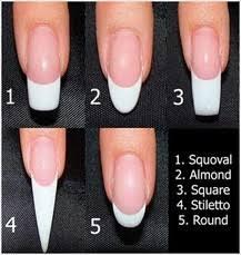 false nail shape names glamour nail salon
