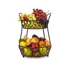 metal fruit basket tiered basket stand ebay