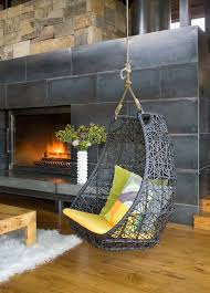 pretty hanging hammock chair in living room rustic with hanging