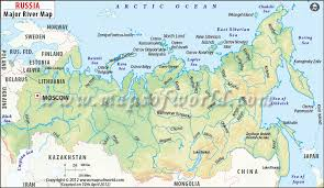 russia map quiz political russia river map major rivers in russia