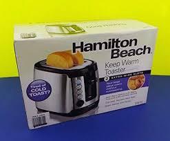 Hamilton Beach 2slice Keep Warm Toaster Stainless Steelblack