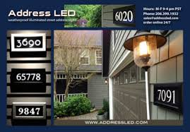 Lighted House Number Sign Address Led Illuminated Address Panel House Numbers Seattle