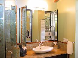 black surface mount medicine cabinets bathroom asian with sconce