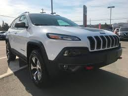 jeep cherokee trailhawk white used 2016 jeep cherokee trailhawk in berwick used inventory