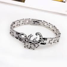 fashion stainless steel bracelet images Stainless steel bracelet male silver chain link bracelets jpg