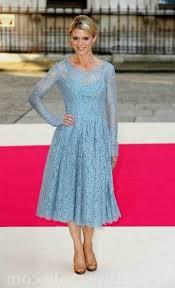 tea length dress with sleeves blue naf dresses