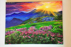 spring painting ideas oil artist trees art student dina spring landscape painting ideas