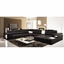 Modern Leather Sectional Sofa Divani Casa Polaris Contemporary Bonded Leather Sectional Sofa