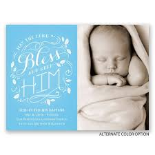 Baptism Card Invitation Bless Him Petite Baptism Invitation Invitations By Dawn