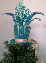 large peacock tree top christmas tree topper peacock top hat