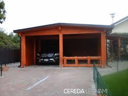 prezzi tettoie in legno per esterni carport legno cereda legnami agrate brianza