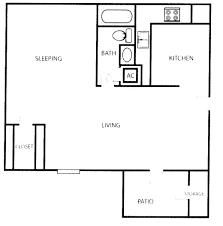 studio apartment plan interior design