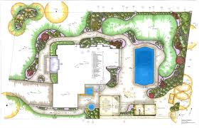 cad model of garden design plan for large garden in gerrards cross
