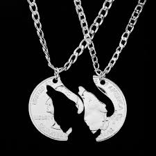 wholesale animal necklace images Hand cut howling wolf necklace animal wolves pendant couples jpg