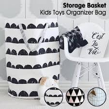 panier rangement chambre b demi cercle grille motif sac à bébé enfants jouet