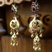 kempu earrings peacock earrings online buy peacock styled kempu earrings