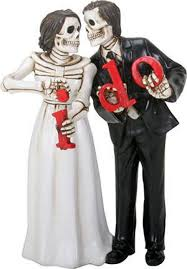 skeleton wedding cake toppers wedding cake toppers never dies and groom i