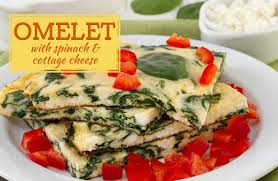 omelet with spinach and cottage cheese recipe sparkrecipes