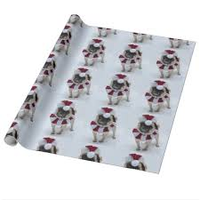 pug wrapping paper santa pug wrapping paper zazzle
