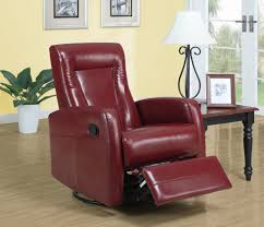 Oversized Rocker Recliner Furniture Comfortable Red Leather Recliner For Excellent Living