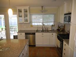 Range In Kitchen Island by Kitchen Cabinet White Kitchen Cabinets Brown Backsplash Small L