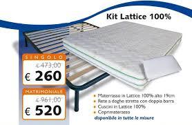 scelta materasso matrimoniale kit lattice 100 con materasso 19 cm rete cuscini