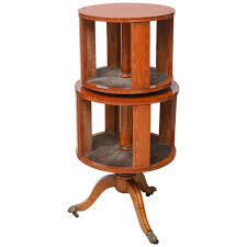 Revolving Bookcase Table Adam Style Satinwood Revolving Bookcase For Sale At 1stdibs