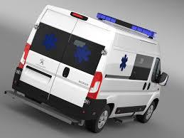 peugeot car van peugeot boxer van ambulance 2015 by creator 3d 3docean