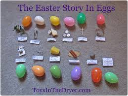 easter resurrection eggs the easter story in an egg hunt free printable