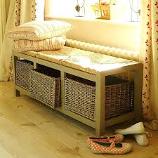 bathroom storage bench with cushion telecure me
