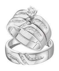 wedding rings trio sets for cheap affordable 1 2 carat trio wedding ring set on 10k white gold