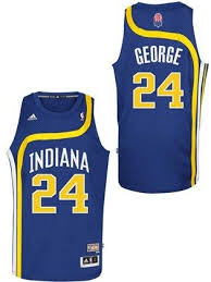 indiana pacers 24 paul george hardwood classic swingman jersey by