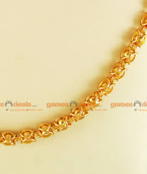 gold plated traditional kerala imitation chain design