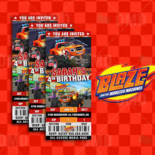 monster invitation blaze and the monster machines ultimate party package u2013 cartoon