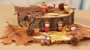 video handmade acorn people martha stewart