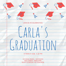 Words For Graduation Cards Design Your Own Graduation Invitation Canva